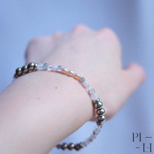 2/80$ bracelet natural pearl & stainless steel